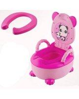 Mīksta podiņa apmācības tualete - rozā