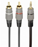 CABLE AUDIO 3.5MM TO 2RCA 2.5M/GOLD CCA-352-2.5M GEMBIRD